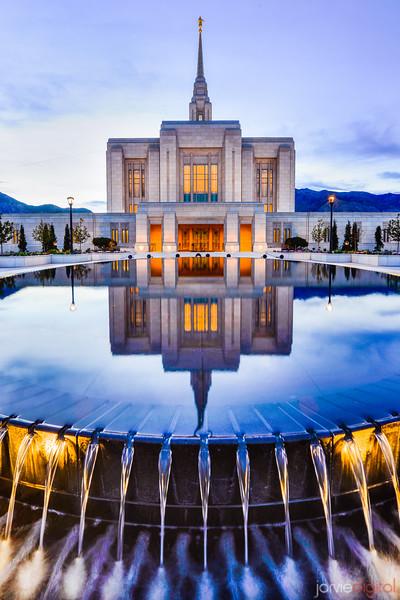 Ogden LDS Temple Reflection