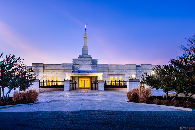 Oklahoma Temple Twilight