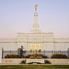 Oklahoma City Temple - Twilight Sign
