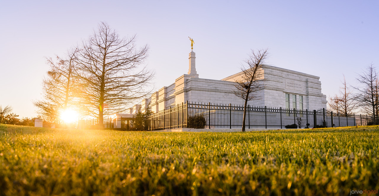 Oklahoma City Temple - Sun Setting