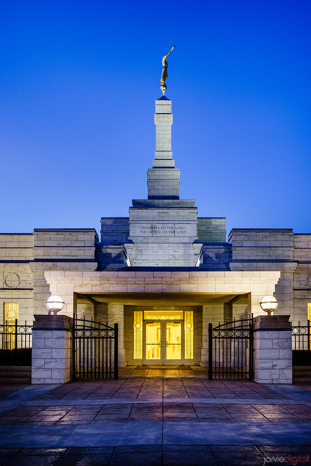 Oklahoma Temple Twilight Vertical
