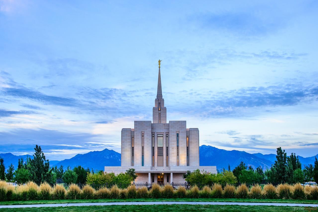 Oquirrh Mountain LDS Temple - Back Sunset