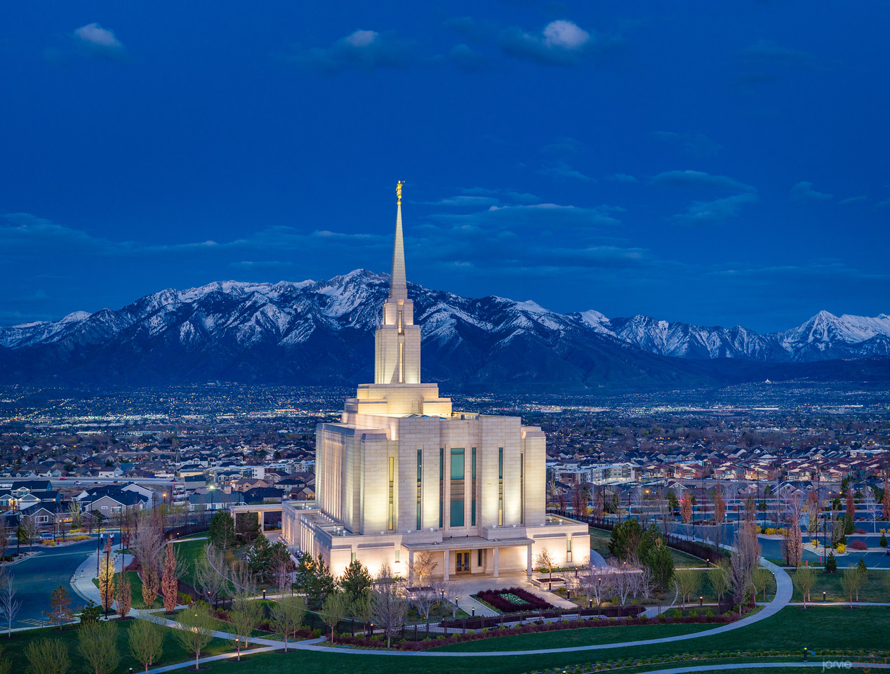 Oquirrh Temple and Mountains