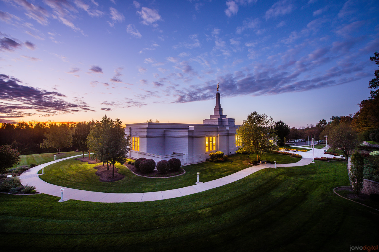 Palmyra Temple Sunset from High