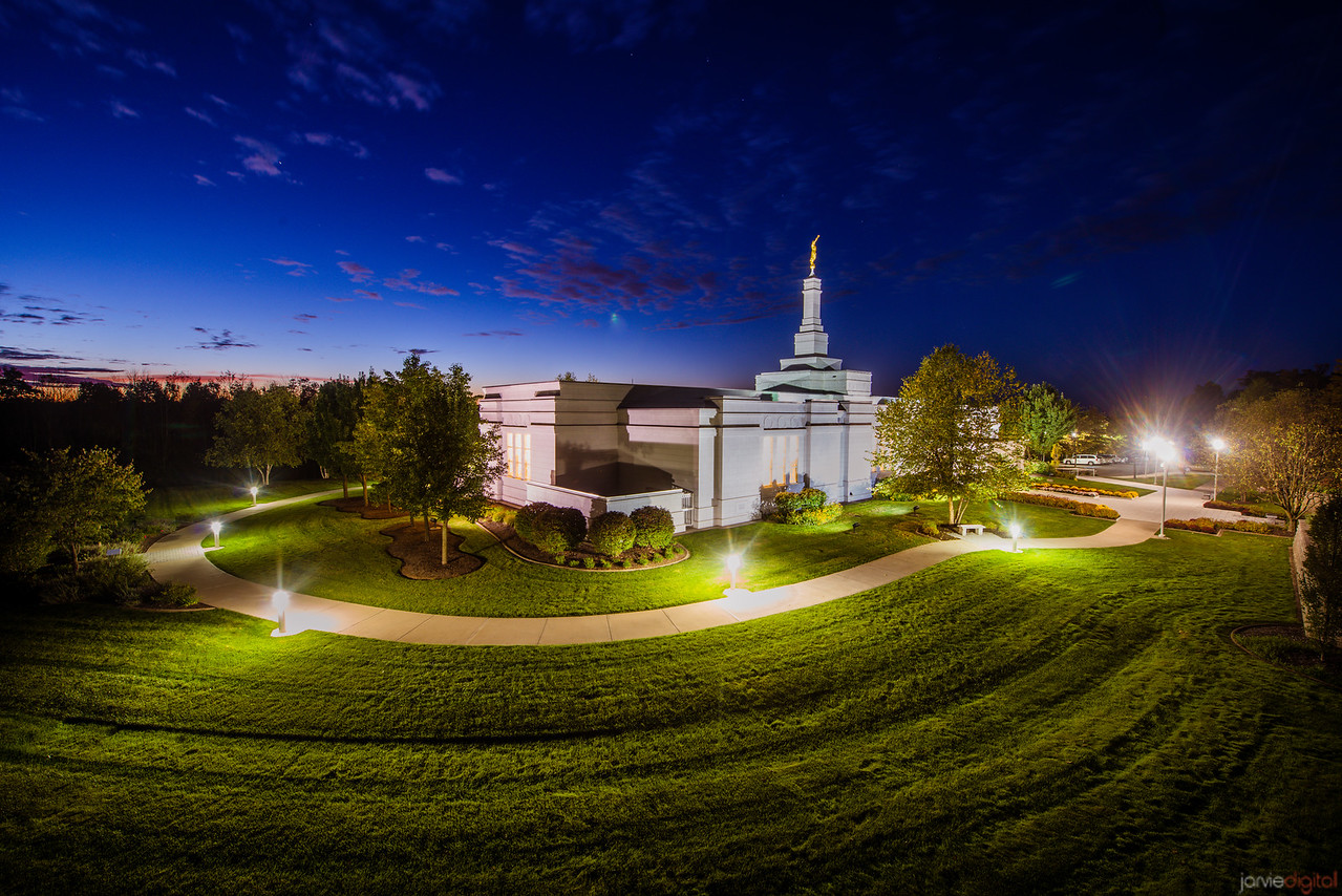 Palmyra Temple Night from High