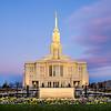 Payson LDS Temple Sunrise Front