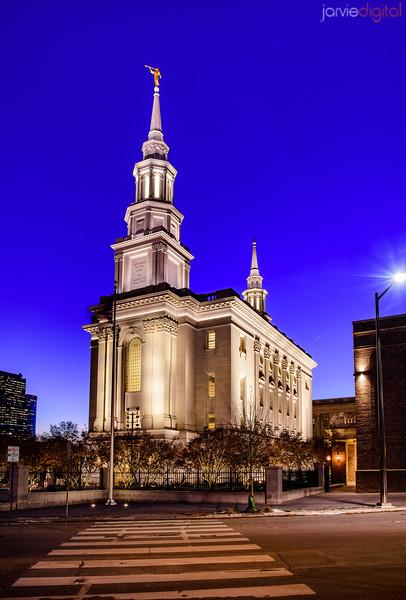 Philidelphia LDS Temple - Across the street