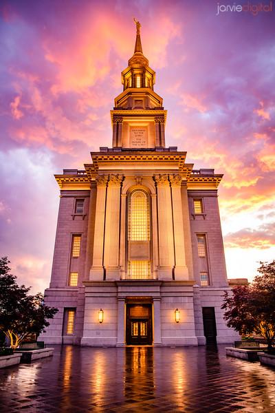 Philadephia Temple Sunset