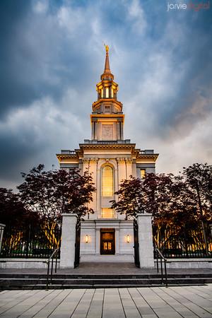 Philadephia Temple moody skies