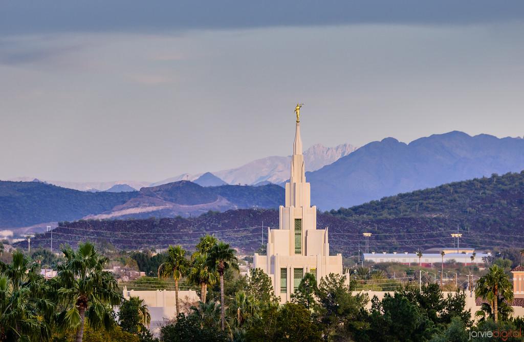 Phoenix LDS Temple Mountain Spire