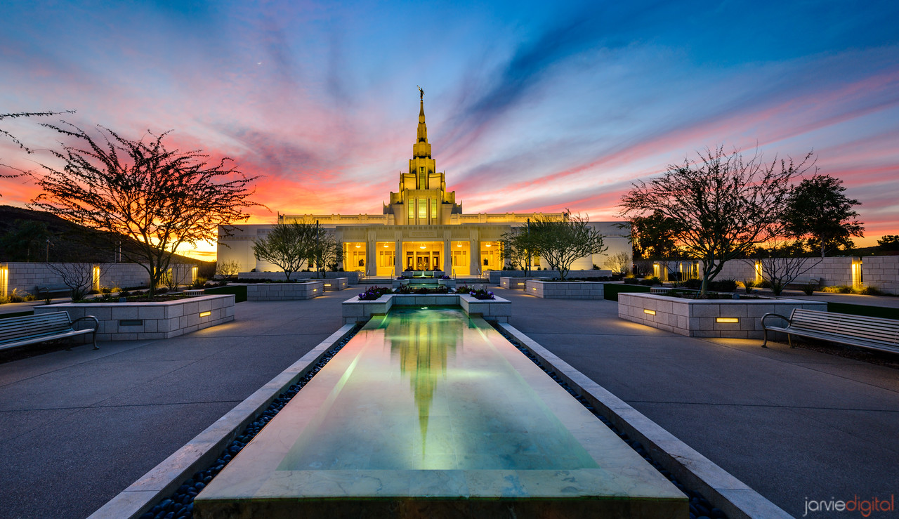 Phoenix LDS Temple sunset