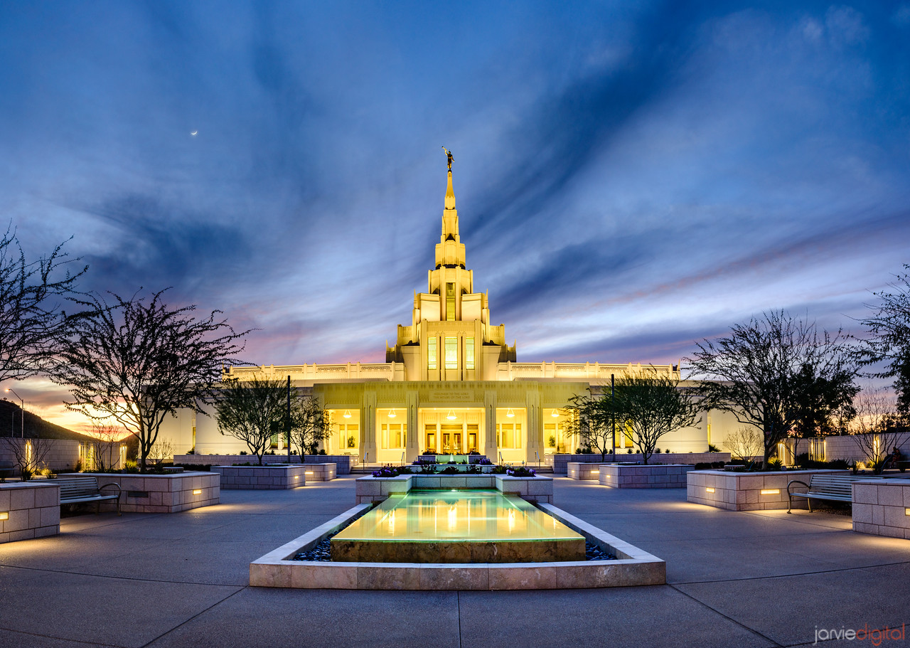 Phoenix LDS Temple Courtyard