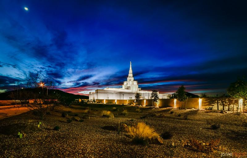 Phoenix Temple Desert Scene