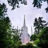 Portland Temple Through Trees