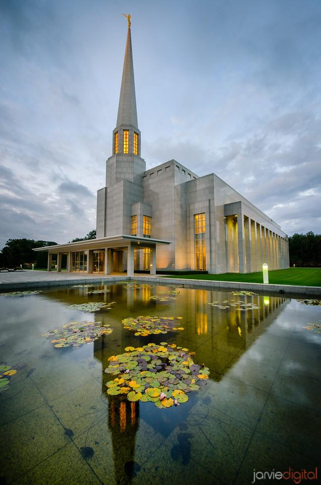 Reflection Morning Preston Temple