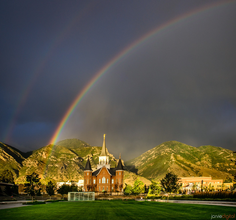 Double Rainbow - Provo City Center Temple