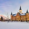 Provo City Temple Snow Panorama