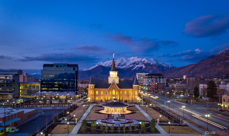 Provo City Center Temple - Timpanogos Dusk