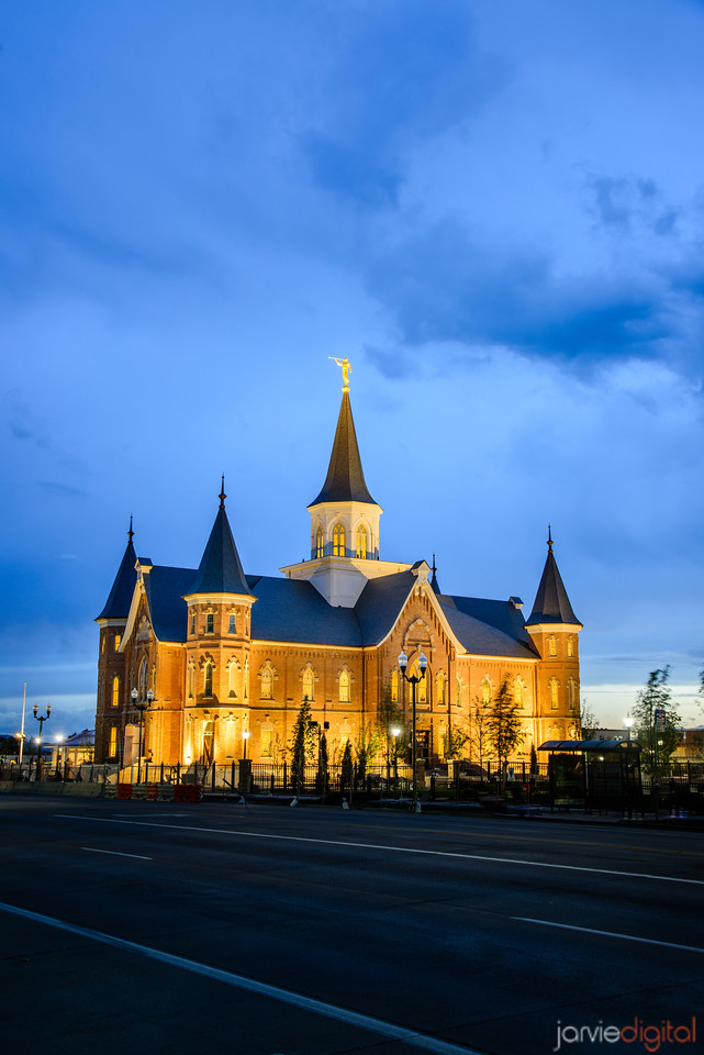 Night Street picture of Provo City Center Temple
