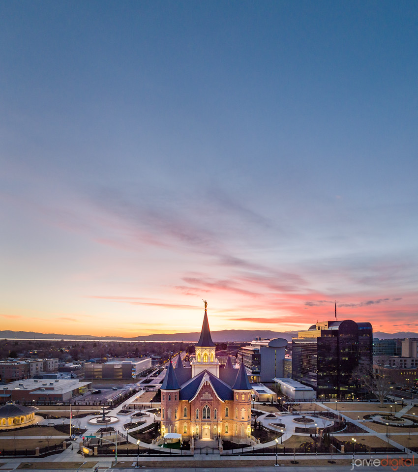 Provo City Center - Westward From above