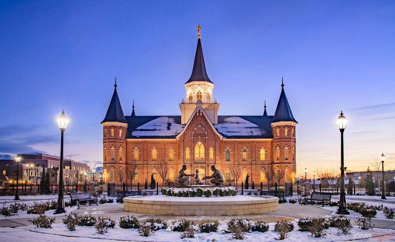 Provo City Temple North Side