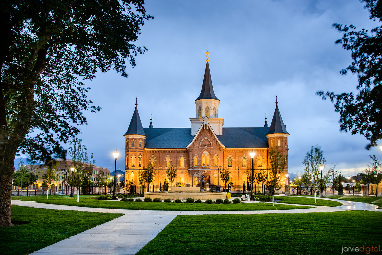 Side Twilight of Provo City Center Temple
