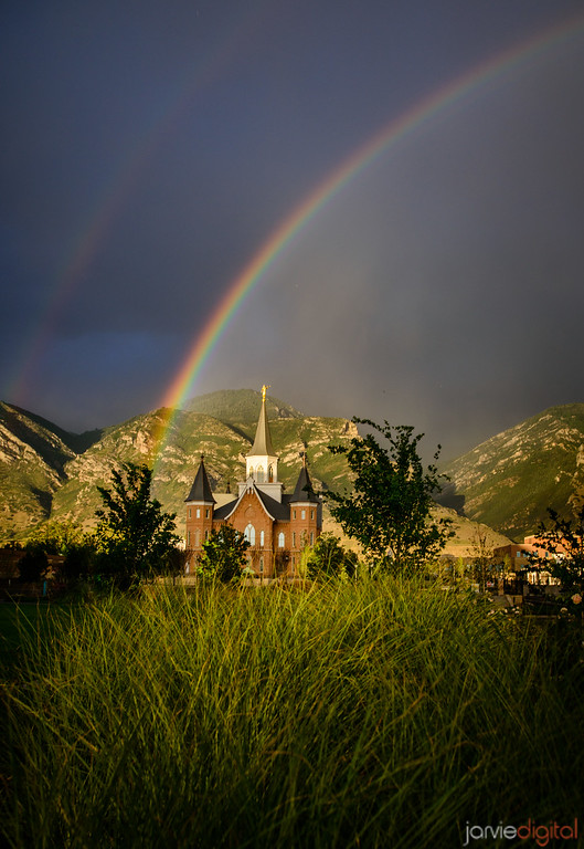 Rainbow and the Tall Grass - Provo City Center Temple