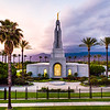 Redlands Temple - Palm tree sunset