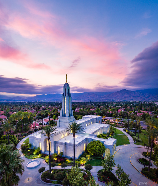 Redlands Temple - Cool skies