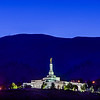 Reno Temple Night From Below