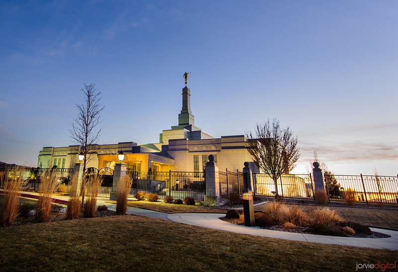 Reno Temple Twilight