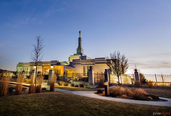 Reno Temple Twilight
