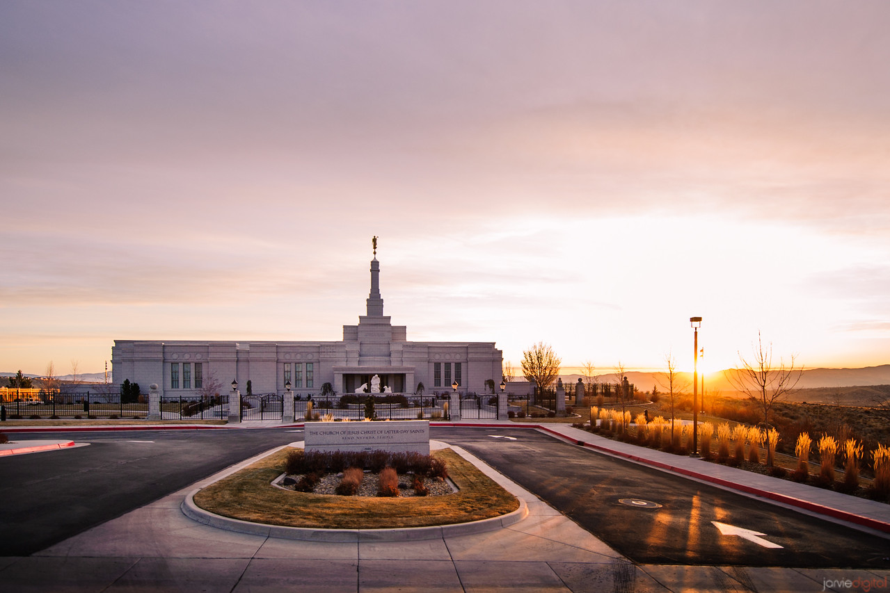Reno Temple Sunrise