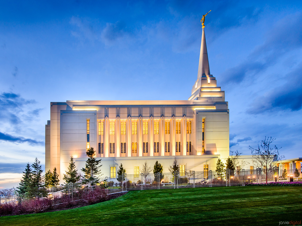 Rexburg Temple Twilight (Side)