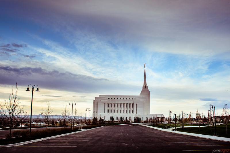 Rexburg Temple Parking Lot