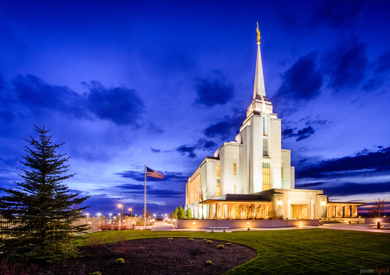 Rexburg Temple Twilight (Front)