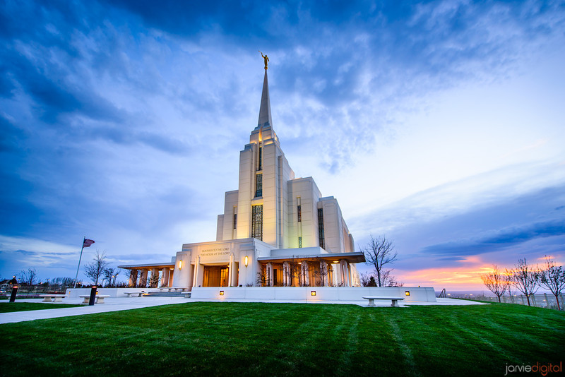 Rexburg Temple Sunset (Front)
