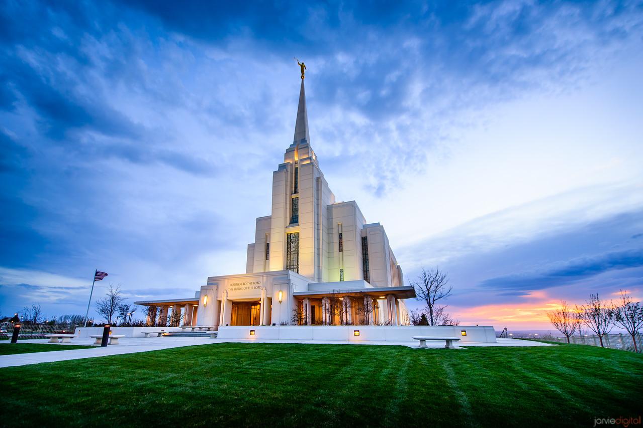 Rexburg Temple Sunset (Front)