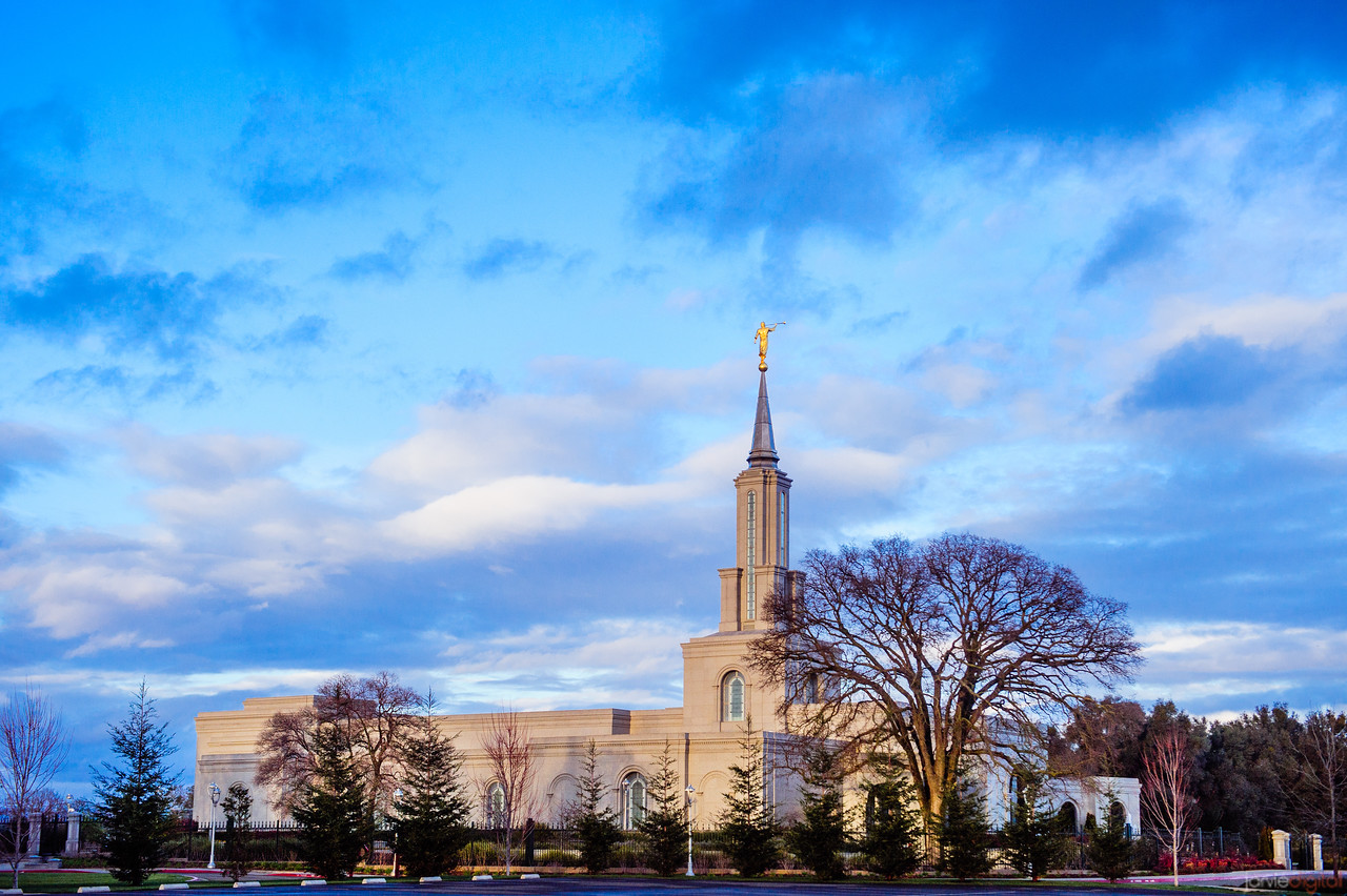 Sacramento Temple Morning From Lot