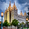 Salt Lake Temple - Strong Blue