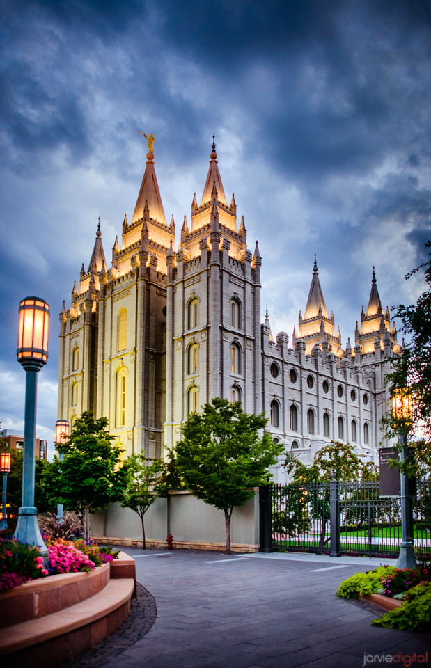 Salt Lake Temple - Strong Blue
