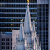 Salt Lake Temple - Spires in the city