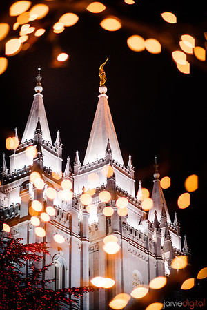 Salt Lake Temple Christams lights