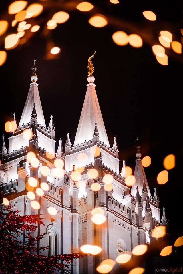 Salt Lake Temple Christams lights
