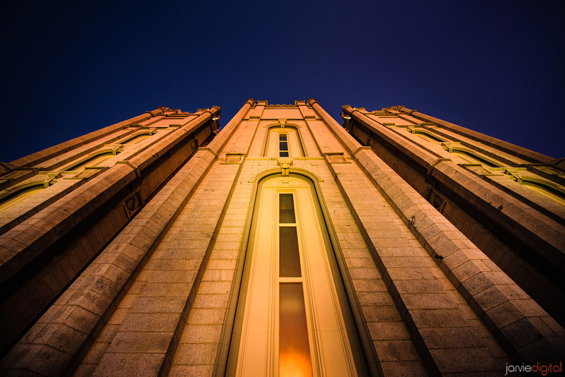 Salt Lake Temple Looking Up