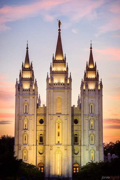 Salt Lake Temple - Sunset