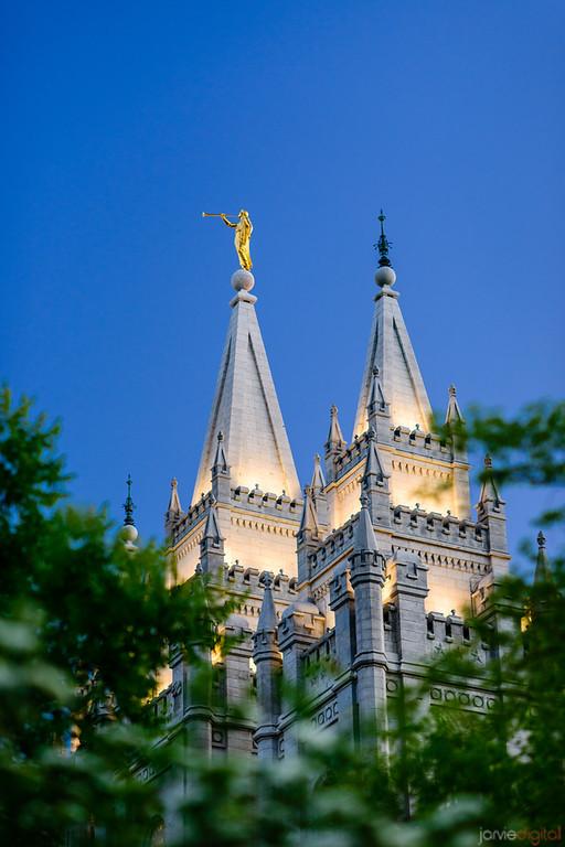 Salt Lake temple spires