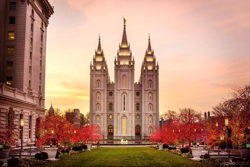 Salt Lake Temple Christmas