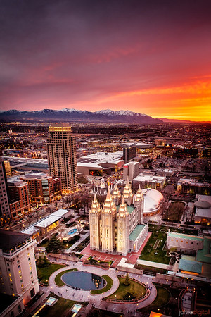 Salt Lake Temple Vertical from above