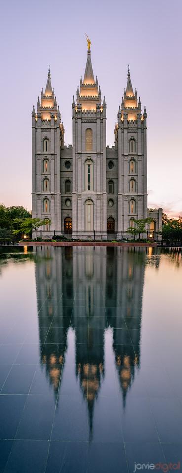 SLC Temple Reflection
